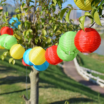 цена на Solar Light LED Lantern String Lights 30 LED Solar Garland Outdoor Fairy Lights For Wedding Party Garden Holiday Christmas