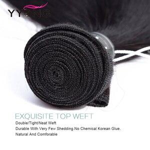 Image 4 - Yyong Straight Hair Weave 3 Bundles Natural Color Peruvian 100% Human Hair Bundles Deals 3Pcs/Lot Remy Hair Extensions Mid Ratio