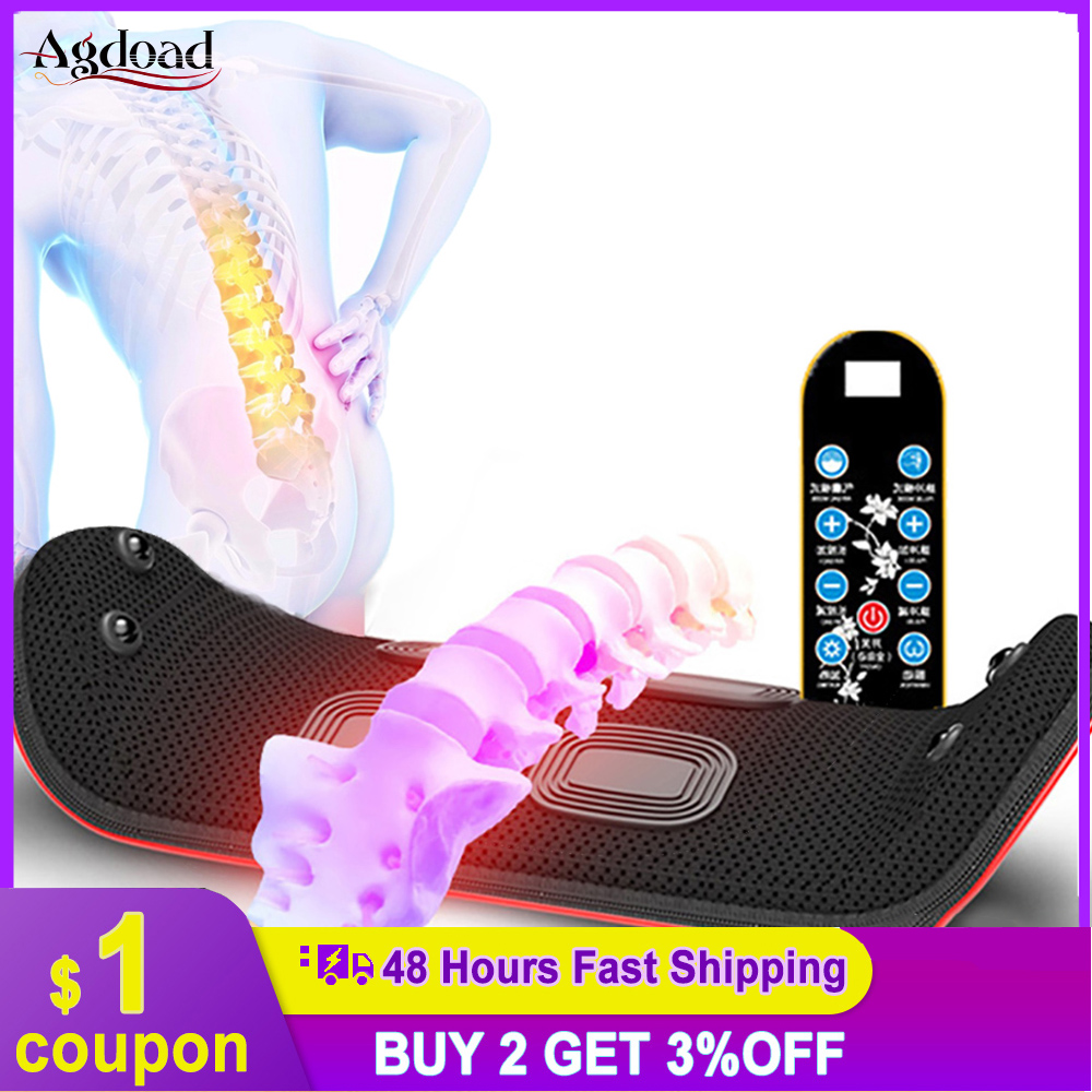 2021 Newest Waist Massager Back Pain Relief Lumbar Traction Device Vibration Magnet Hot Compress Acupuncture Gift Health Item