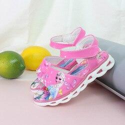 Buty dziecięce dziecięce sandały z motywem księżniczki dziewczęce cukierki kolorowe sandały z kreskówek oddychające i lekkie buty z pętelkami w Sandały od Matka i dzieci na