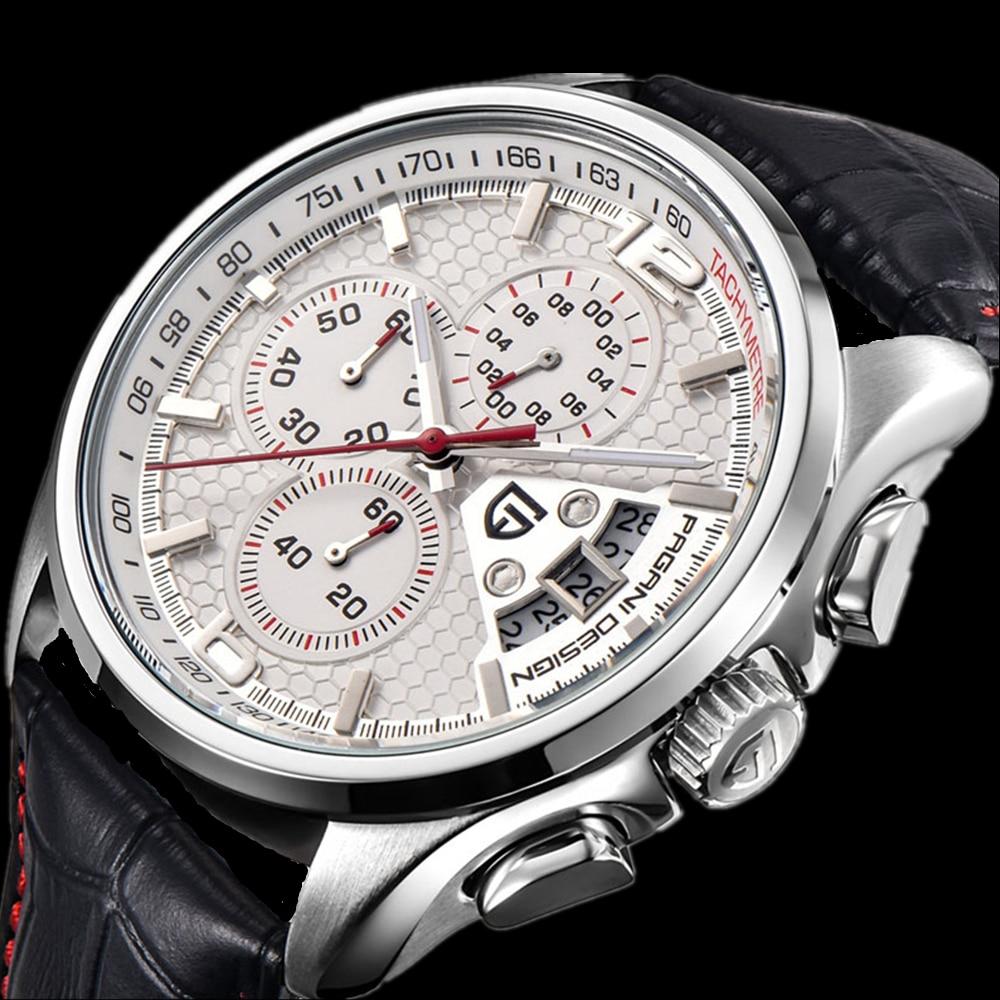 PAGANI DESIGN นาฬิกาแบรนด์หรูผู้ชายควอตซ์ผู้ชาย Chronograph กีฬาดำน้ำ 30 M นาฬิกาข้อมือ Relogio Masculino