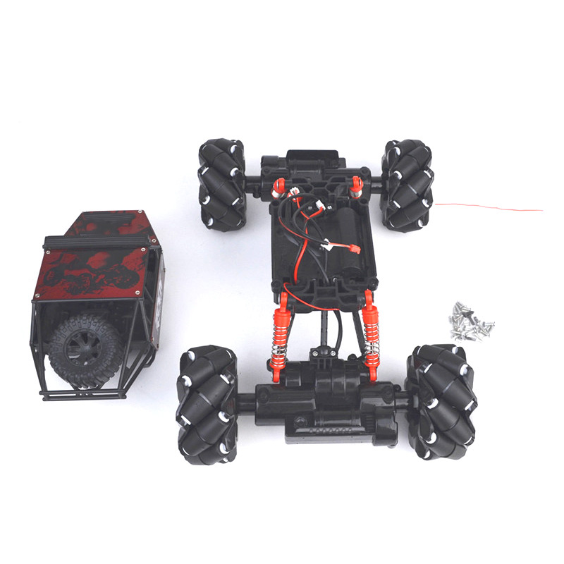 Omni-Directional Smart Car Chassis Universal Wheel With Cover Four Wheels Drive