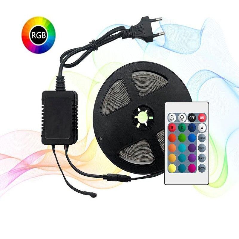 5 Meter 300Leds Non-waterproof RGB Led Strip Light 2835 DC12V 60Leds/M Flexible Lighting Ribbon Tape RGB Strip