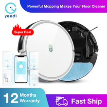 yeedi k650 Robot Vacuum Cleaner 2000Pa Suction Sweeping Mopping 3in1 Smart Route APP Control Auto Charge For Home Floor Carpet