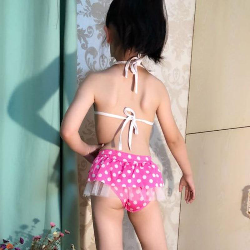 Girl'S Swimsuit Split Type Cute Children Sun-resistant Triangular Tour Bathing Suit Infants Child Baby Korean-style Princess Dre
