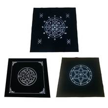 50x50 см искусство Таро языческий алтарь скатерть фланелевая