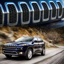 7Pcs เปลี่ยนรถ Grille ฝาครอบตาข่าย Grille สำหรับ Jeep Cherokee 2014 2015 2016 2017 2018 Dropshipping Hot ขาย