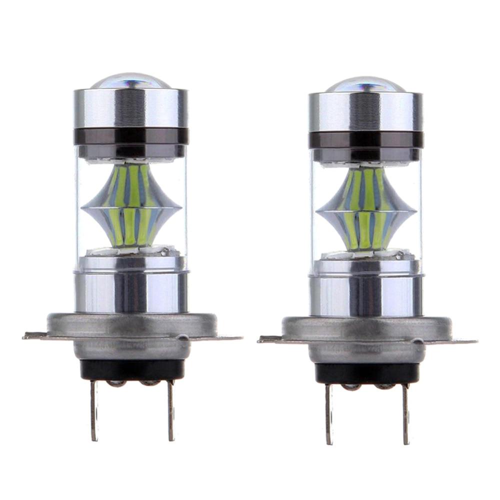 2pcs H1 H7 H8 9005 Hb3 Led Bulb Super Bright 3030smd Car Fog Lights 100w 20led Fog Driving Lights Bulbs