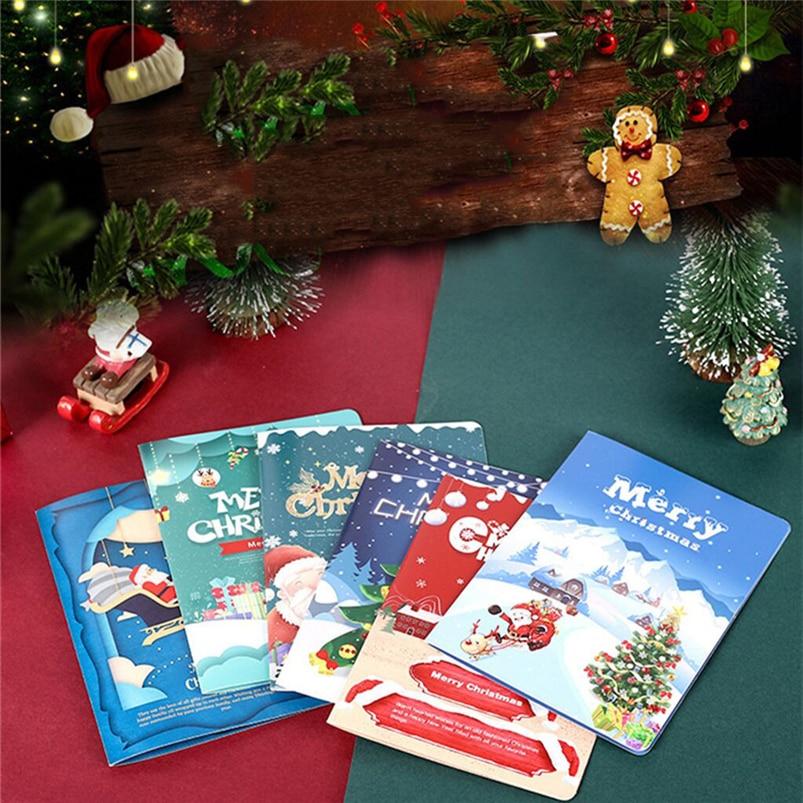 Christmas Card Set Santa Claus Elk Snowman Diamond Painting DIY Holiday Card 30 x 15 x 2cm Merry Christmas Navidad 40OCT712