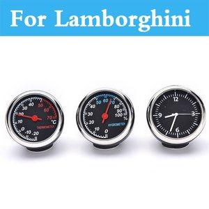 Car Digital Thermometer Hygrometer Clock Watch For Lamborghini Murcielago Reventon Sesto Elemento Aventador Veneno Gallardo