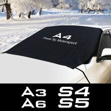 รถกระจกหิมะ Ice Dust Block Sun Shade สำหรับ Audi S1 S2 S3 S4 S5 S6 S7 S8 SQ5 SQ7 A3 8P A4 B8 B6 A6อุปกรณ์เสริมอัตโนมัติ
