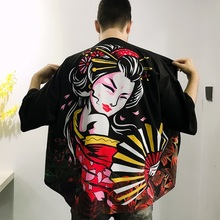 Male Kimono Custume Shirt Yukata Samurai Japanese Asian Fashion Men Top-Ff3006 Men's