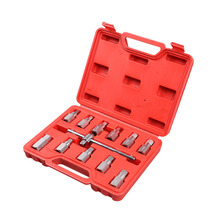 12pcs Drain Plug Sump Key Set Gearbox Axle Repair Oil Sump Screw Sleeve Wrench Oil Bottom Screw Wrench With Box стоимость