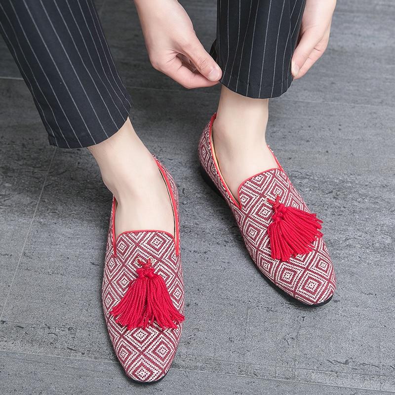 fashion designer men genuine leather shoes italian formal male wedding footwear trend evening tassel brogue oxford shoes for men (16)