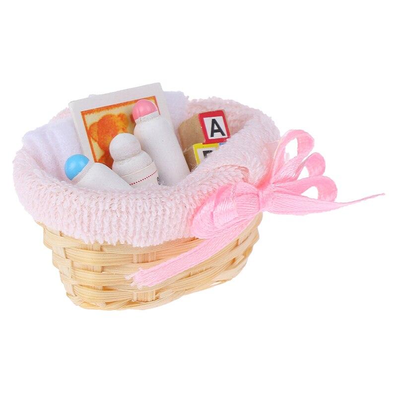 Mini Feeding Bottle Basket Simulation Furniture  Model Toys For Doll House Decoration 1/12 Dollhouse Miniature Accessories