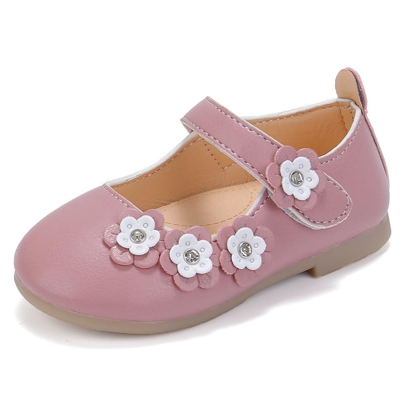 Anak Perempuan Putri Sepatu Bunga Anak Anak Kulit Sepatu Anak Flat Lembut Manis Lucu Tk Sepatu Pesta Dansa Pernikahan 21 30 Sepatu Olahraga Aliexpress