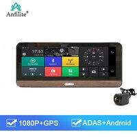 Anfilite 4G ADAS Car DVR Camera 7.84 inch Android 5.1 GPS Bluetooth Dash Cam Video Recorder gps navigation south korea maps