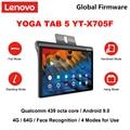 Lenovo YOGA TAB 5 X705F WiFi /X705M LTE Восьмиядерный процессор Qualcomm 439 4 Гб ОЗУ 64 Гб ПЗУ 10,1 дюймов 1920*1200 IPS 7000 мАч android планшет