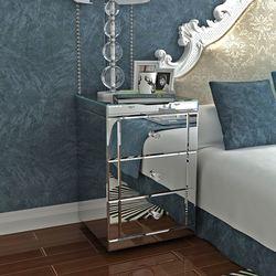 Panana שיקוף שידה שליד המיטה/מיטת שולחן/חזה של 3 מגירות שינה שידה
