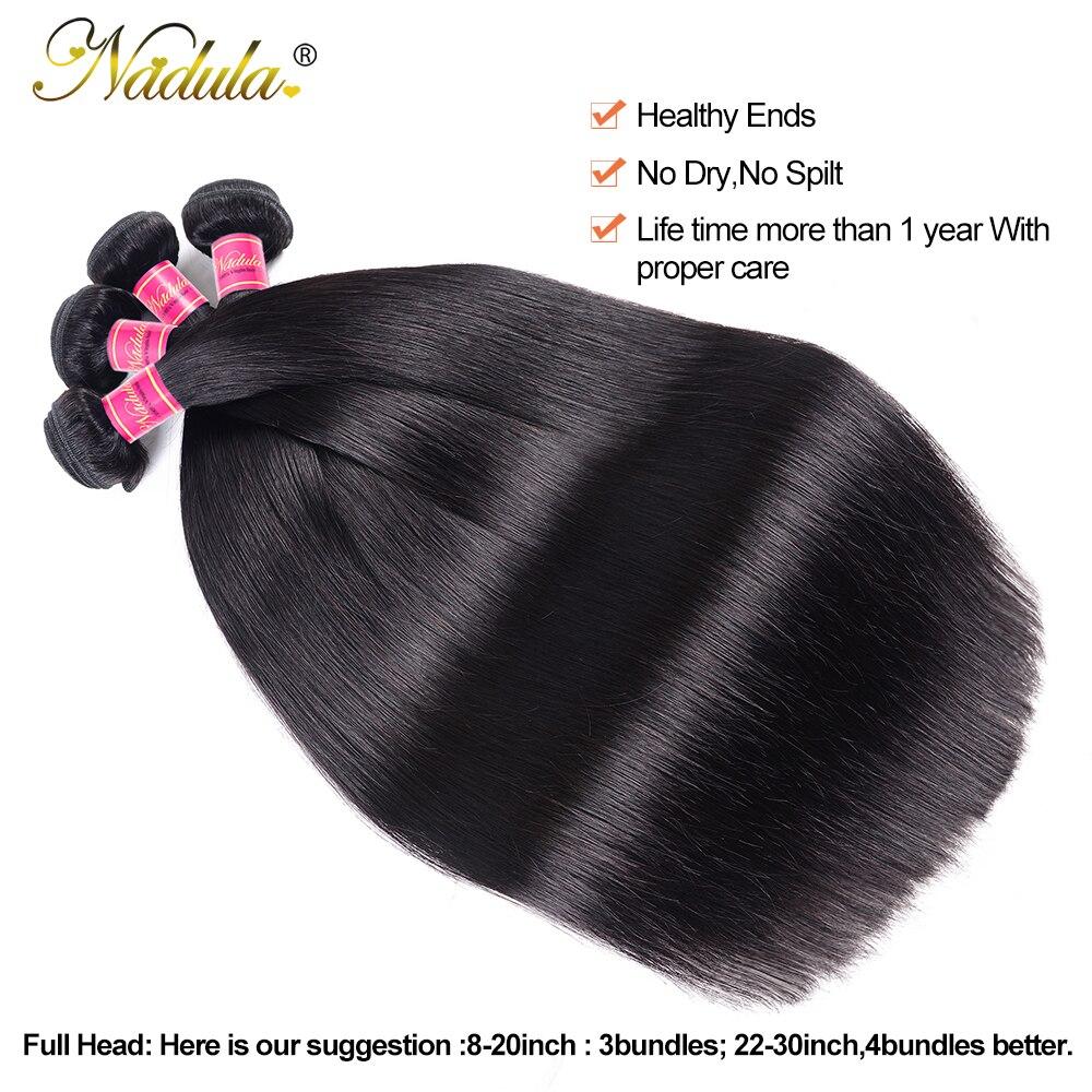 Nadula Straight Bundles  Ponytail 3 Bundles / 4 Bundles Straight Hair Deals  Hair Vendors Wholesale 4