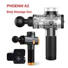 Phoenix A2 elektroniczny pistolet do masażu profesjonalny masażer do ciała głęboki pistolet do masażu mięśni pistolet do masażu mięśni relaks pistolet ulga w bólu