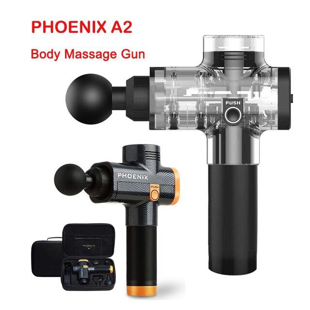 Phoenix A2 elektronik masaj tabancası profesyonel vücut masajı derin kas masaj tabancası kas masajı gevşeme tabancası ağrı kesici