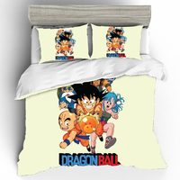 Dragon Ball Bedding Set High Quality Home Textiles Bed Duvets And Linen Sets Bed Linen Cotton King Size Duvet Cover Bedding Sets