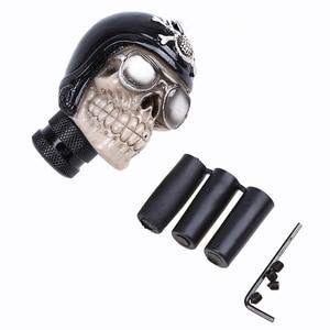 Универсальное автомобильное руководство MT с автоматическим рычагом переключения передач рычаг переключения скоростей 5/6 очки Скелет темно-синий череп