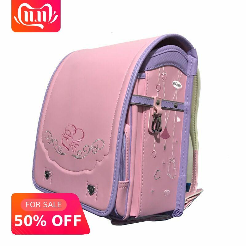 Original Japanese Randoseru For Boys Girls School Bags Children's Orthopedic Backpack High Quality Mochila Bolsas Primary 1-6 Sa