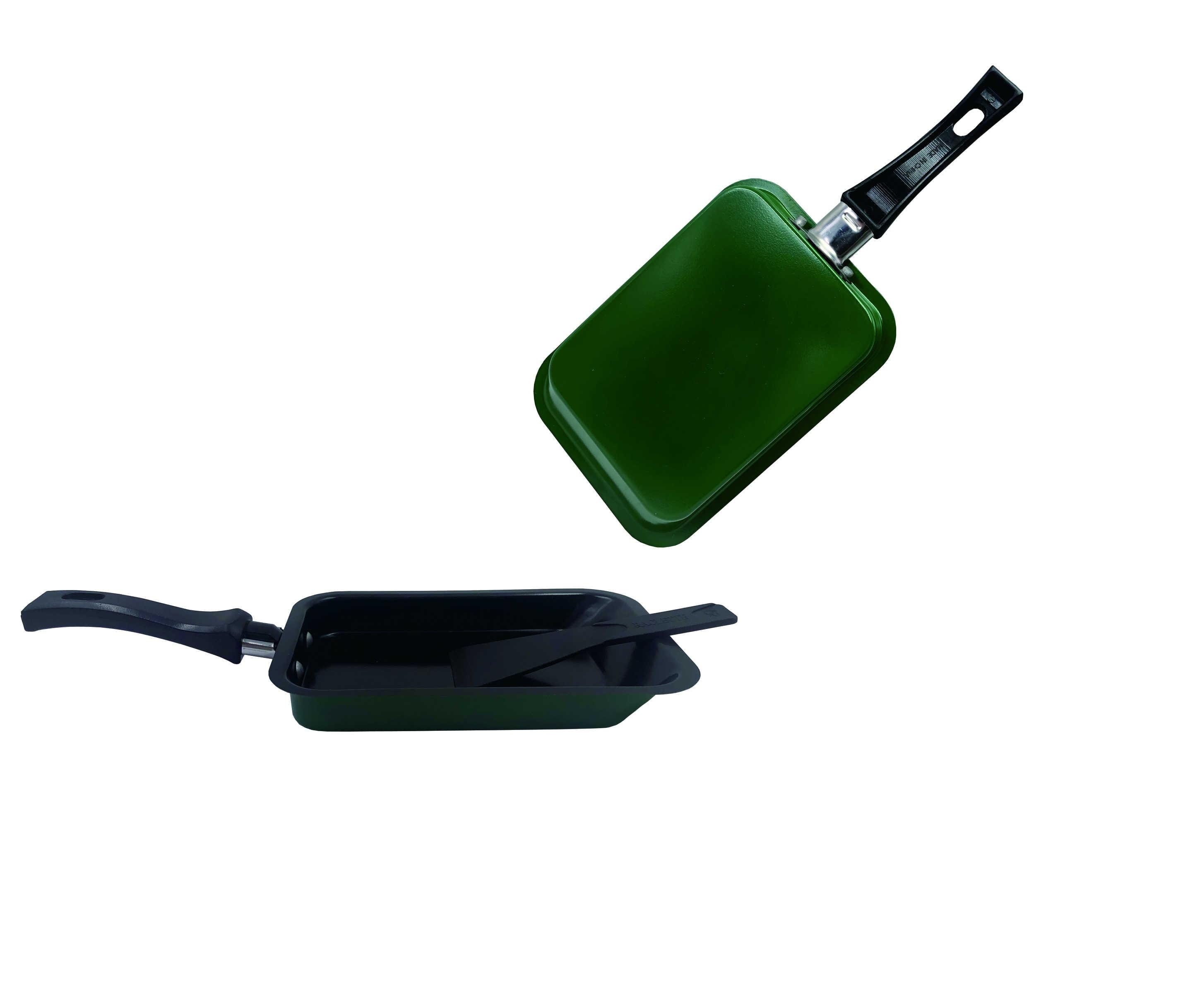 Non-Stick มินิสแควร์เหล็กหล่อกระทะทอดไข่เจียวสำหรับไข่แฮม PAN อาหารเช้ากระทะย่างแบบพกพา PAN เครื่องครัวเครื่องมือทำอาหาร