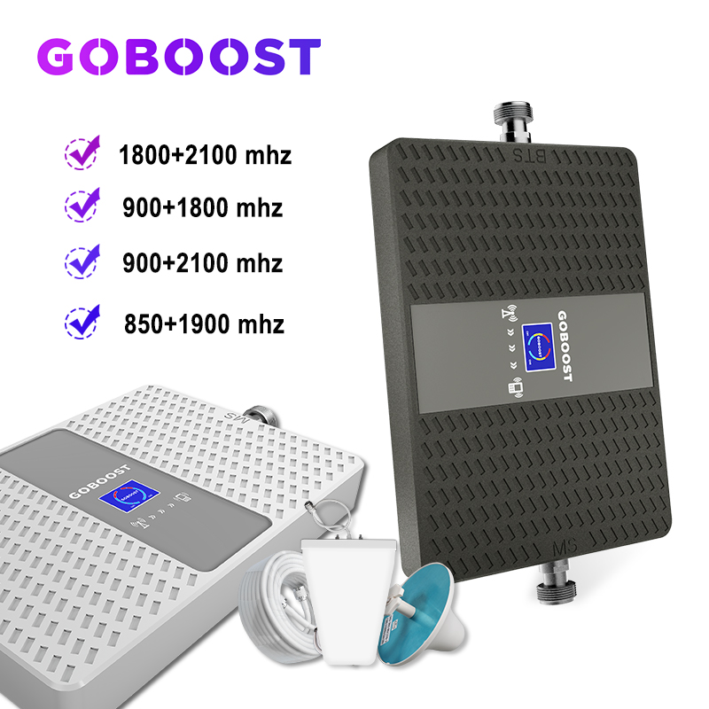 Cellular Amplifier Repeater Gsm 2g 3g 4g Cellular Signal Booster 70dB 900 1800 2100mhz 4g LTE 2100 3G Repeater 4G ALC Dual Band