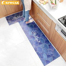 RFWCAK 2 шт. кухонные ковры из искусственной кожи коврики большие Коврики для спальни татами водонепроницаемые маслостойкие кухонные коврики