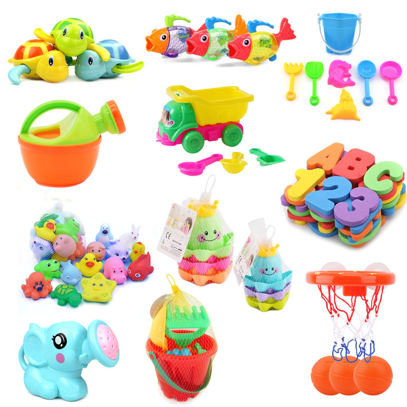 A Variety Of Styles Cute Bathing Toys Baby Bathroom Shower Tool Water Toys For Children Kids Bath Toy Educational Toys