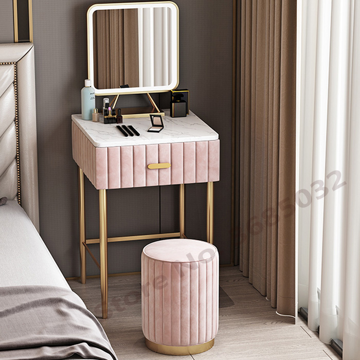 Nordic Pouf Fabric Dressing Stool Ottoman Stylish Quality PU Leather or Flannel Change Shoes Small Sofa Fashion Living Room