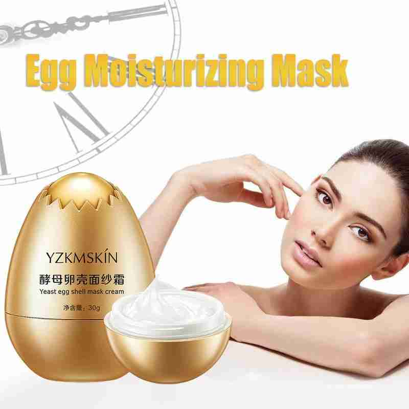 Yeast Egg Shell Mask Miracle Egg Mask Anti Aging Facial Sleeping Mask Remove Wrinkle Moisturizing Cream Face Skin Care Treatment