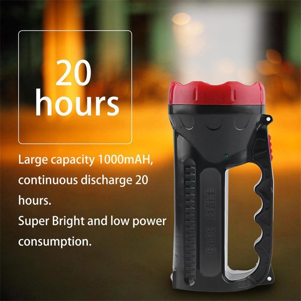 LED Outdoor Camping Hiking Super Bright Charging Portable Light Flashlight Torch Light Nine Lamp Head 1000mAH 2018 Top Sale