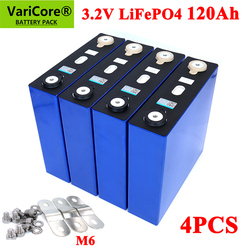 4PCS 3.2v 120ah lifepo4 Rechargeable Battery DIY 12v 24v 36v 48v deep cycle package ldp lithium cell lithium iron phosphate