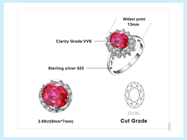 Haa0c1886899748cc9fe92d2619e0f299g JewPalace Princess Diana Created Red Ruby Ring 925 Sterling Silver Rings for Women Engagement Ring Silver 925 Gemstones Jewelry
