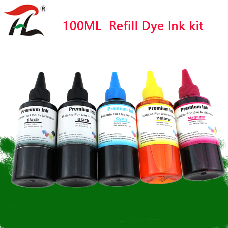 Universal 100ml Refill Dye Ink Kit for Epson for Canon for HP for Brother All Model Printer ink CISS Ink Voor inkt Tank