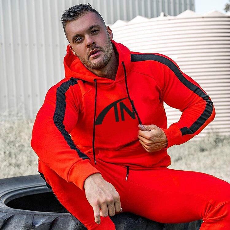 2019 Autumn Mens Tracksuit Set Hoodies And Sweap Pant For Men 2 Pieces Sets  Mens Jogger Suits Men  Sweat Suits