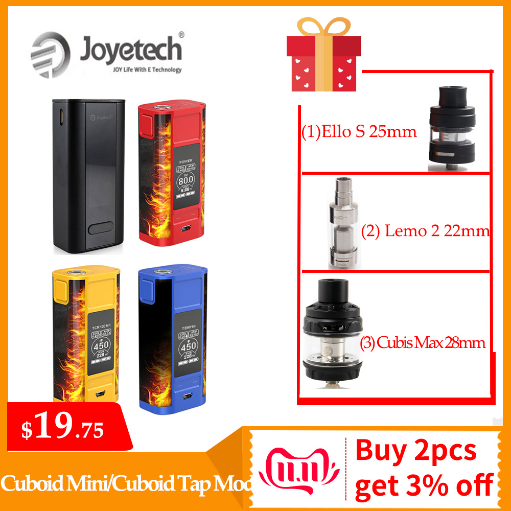 Original Joyetech Cuboid Mini Battery Vape Mod Built In 2400mAh Battery /Cuboid Tap Mod By Lyche Tank E-Cigarette