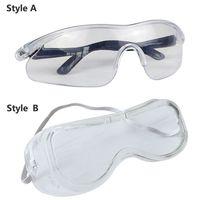 Anti drool prova óculos anti vírus óculos unisex nevoeiro bloqueio anti poeira anti gotículas eyewear ajustável para adultos crianças 2 Capa multiuso     -