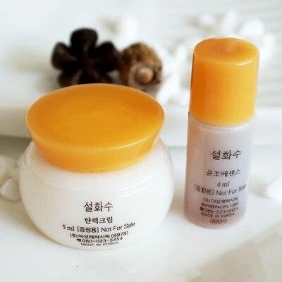 Korean Cosmeti SULWHASOO Anti Acne Treatment Whitening Moisturizing Face Cream+Face Serum 2PCS  Facial Skin Care Set