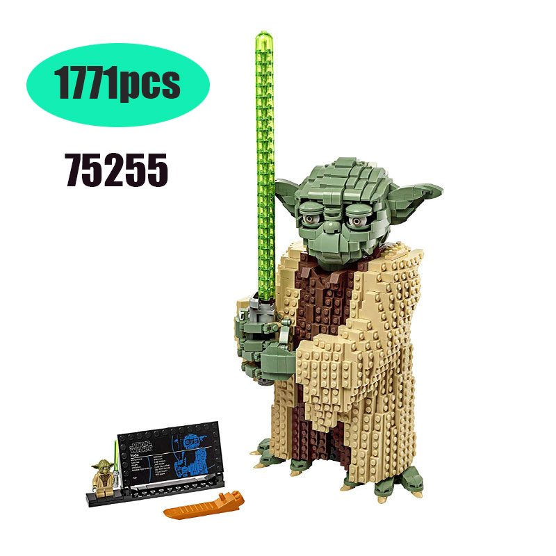 81099 New Compatible Lepining Star Wars 75255 Series Yodablock Building Blocks Bricks Toys Children's Christmas Gift