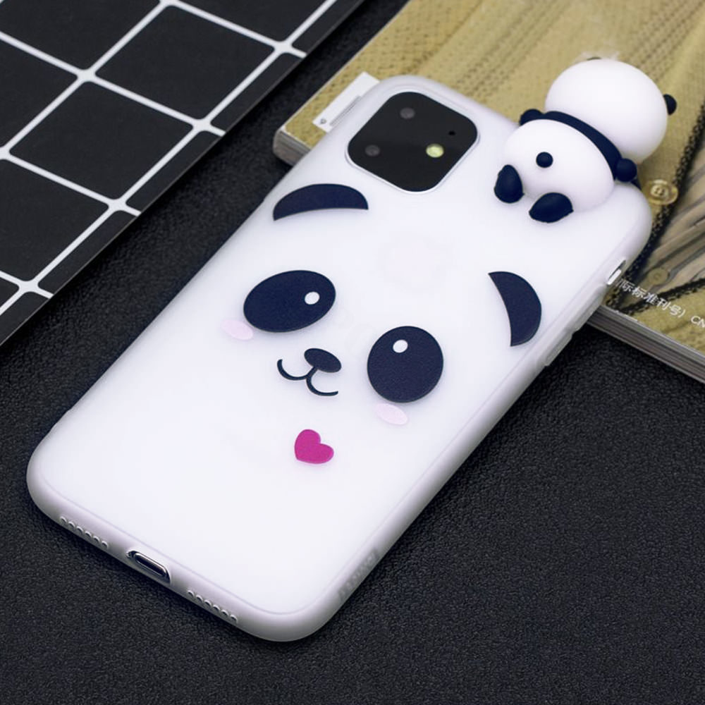 3D Cartoon Panda Case For Iphone SE 2020 Slim Shockproof Cover For Iphone 12 Mini 11 Pro Max X Xs Xr 7 8 Plus 6 6S Silicone Case