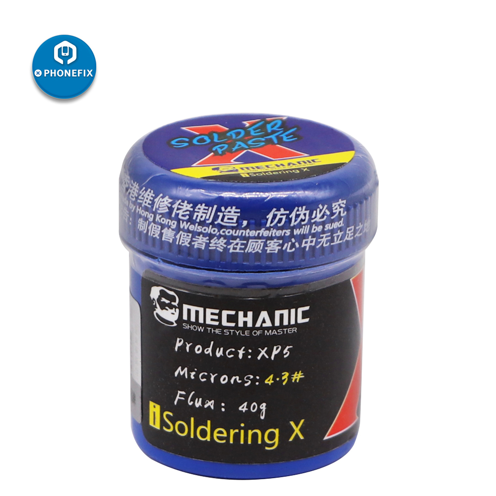 Mechanic Lead Free Solder Flux Paste XP5 148 Degree Welding Paste For IPhone X/XS/XR/XS MAX Motherboard Soldering Repair Flux