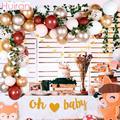 Лесной шар цвета розового золота, гирлянда, 1 год, первый день рождения, декор для дня рождения, Детские кольца, балоновая АРКА, детский душ