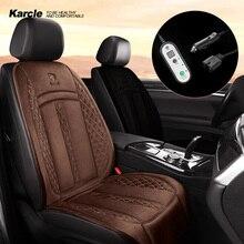Karcle 1 peça 12v 24 24v universal assento de carro aquecedor almofada aquecimento aquecida assento de carro capa almofada inverno mais quente acessórios do automóvel
