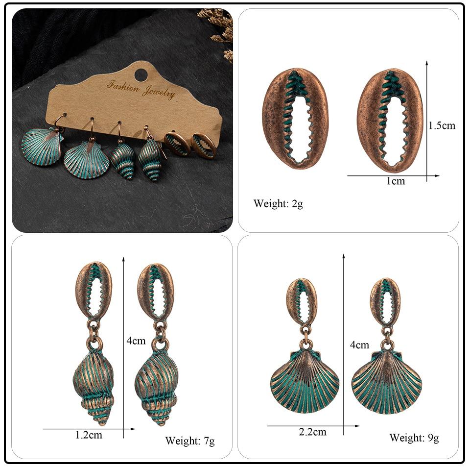 Bohemian Bronze Big Flowers Drop Earrings for Women 10 Style Vintage Leaf Metal Tassel Fringe Hanging Earring Females Jewelry (18)