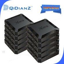 10 pces x96q smart tv box android 10 allwinner h313 quad core 2g 16g 4k 3d x96 q mini android tv conjunto caixa superior media player